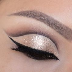 Shimmery, rose gold cut crease eyeshadow featuring Stila Dusty Rose Magnificent Metals eyeshadow. #eotd Asian makeup