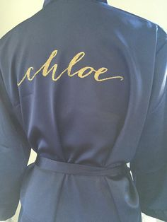 bridesmaid robes personalized gold glitter by myeverydayparty