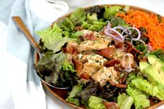 Bistro Chicken Salad with Garlic-Thyme Vinaigrette
