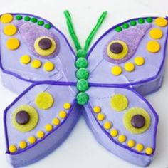 Sweet! How to make a butterfly birthday cake with gumdrops. Easy, step-by-step recipe, diagrams and pictures - parenting.com