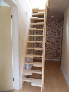 attic designs space saver step conversion with glass balustrade