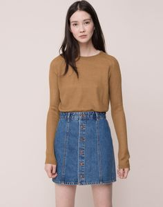 BUTTONED DENIM SKIRT - SKIRTS - WOMAN - PULL&BEAR Croatia