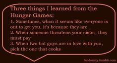 3 things I learned from the hunger games