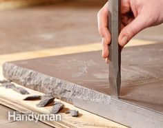 to Build a Table with a Concrete Top Build Your Own Concrete Table. Could use this same process for a countertopBuild Your Own Concrete Table. Could use this same process for a countertop Concrete Furniture, Concrete Projects, Furniture Projects, Home Projects, Diy Furniture, Concrete Patio, Concrete Table Top, Concrete Kitchen, Poured Concrete