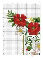 """ru / kento - Альбом """"Α Poppies, Cross Stitch Embroidery, Border Tiles, Table Toppers, Punto De Cruz, Dots, Flowers, Drawings"""