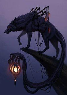 Wild Fantasy: Animal Paintings by Jade Merien Dark Fantasy Art, Fantasy Kunst, Fantasy Wolf, Fantasy Beasts, Fantasy Artwork, Digital Art Fantasy, Fantasy Drawings, Fantasy Forest, Fantasy City