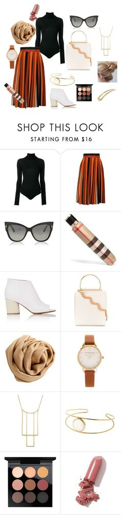 """""""Autumn outfit"""" by emese-vincze on Polyvore featuring Unravel, Givenchy, Tom Ford, Burberry, Maison Margiela, Roksanda, Brunello Cucinelli, Olivia Burton, Bloomingdale's and MAC Cosmetics"""