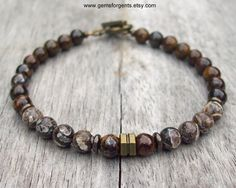Brown Turritella Fossilized Agate and Brown by GemsForGents