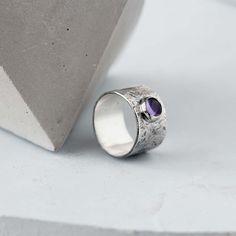 Amethyst ring amethyst band ring with amethyst amethyst