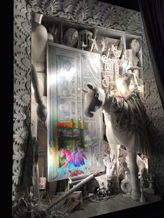 "Bergdorf Goodman 2014 Holiday Windows ""Painting"" Pineado por Pilar Esconado"