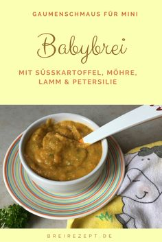 Babybrei mit Lamm und Petersilie Brei Baby, Baby Food Recipes, Food Inspiration, Curry, Monat, Ethnic Recipes, Html, Recipes For Babies, Baby Meals