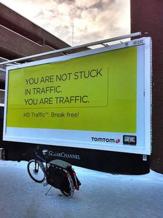 You are not stuck in traffic. You are traffic. by carltonreid, via Flickr
