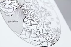 Boston Map Wall Art, 'Mind Maps' Depict Cities Without the Aid of GPS