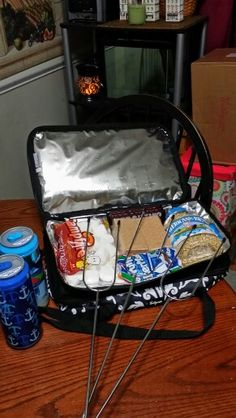 S'MORES!!!!! Everybody loves them!! So does the Perfect Party Set. Actually it would LOVE to hold your s'mores supplies!