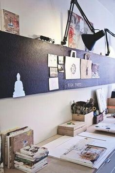 Long magnetic board. In a office above the desk or in a long hallway for family photos. Useful idea for many areas of your home.