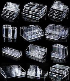 lipstick holder Rangements Maquillage Details about Clear Acrylic Makeup Case Cosmetic Organizer Drawer Storage Jewelry Cabinet Box Diy Makeup Organizer, Makeup Drawer Organization, Make Up Organiser, Makeup Holder, Organization Ideas, Storage Ideas, Acrylic Organizer, Cosmetic Organiser, Art Supplies Storage