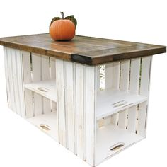 Kitchen Island or table, made from upcycled recycled wooden crates. Nice idea for a craft room. Now if someone could only tell me where the hey diddle diddle to get wooden crates and pallets cheap, Id be set! lol - Home Decor Diy Cheap