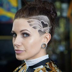 40 Smashing Undercut Hair Tattoos You Don't Have But Should Side shaved hearts by Da Spot Barbershop The post 40 Smashing Undercut Hair Tattoos You Don't Have But Should appeared first on Do It Yourself Diyjewel. Undercut Hairstyles Women, Undercut Long Hair, Shaved Undercut, Haircuts, Side Shave Design, Haare Tattoo Designs, Shave Designs, Undercut Hair Designs, Shaved Hair Designs