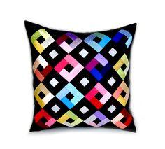 """pillow case, 18 / 18"""", decorative pillows, throw pillows, #patchwork pillow, sofa #cushions, #pillowcase, zipper , #bright, color, #colorful #bedding #pillows #homedecor #craft #pillow #bedding #pillows #homewares #birthdaygift #pillow covers, sofa pillow, #needlework, decorative pillow, throw pillow, #handmade #AnnushkaHomeDecor $21,00 USD"""