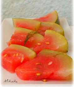Mitinita: Pepene murat - Pickled watermelon