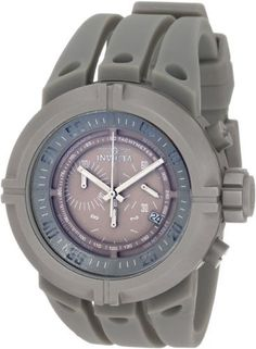 Invicta Men's 0850 Force Chronograph Grey Dial Grey Polyurethane Watch Invicta. $115.00. Grey Dial with Silver Tone Hands and Cut Out Arabic Numerals at 5 Second Intervals; Luminous; Grey Ring Tachymeter Scale On Dial. Chronograph Functions with 60 Second, 30 Minute and 1/10th of a Second Subdials; Date Function. Water-resistant to 100 M (330 feet). Mineral Crystal; Brushed Grey Stainless Steel Case; Grey Polyurethane Strap. Swiss Quartz Movement. Save 87% Off!