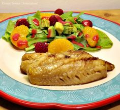 Angels Home Sweet Homestead: Grilled Red Wine and Honey Perch with Raspberry Avocado Salad #CookoutWeek