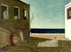 Chirico, Giorgio de (1888-1978) - 1912 The Morning Meditation  GIORGIO DE CHIRICO (Vòlo, 10 luglio 1888 – Roma, 20 novembre 1978) #TuscanyAgriturismoGiratola