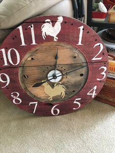 "Urbanchic designs spool clock custom 149.00 30"""