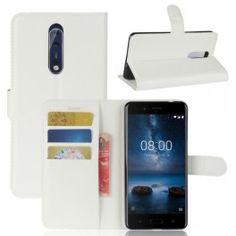 Nokia 8 valkoinen puhelinlompakko