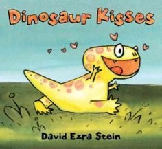 Tuesday, April 21, 2015. An energetic young dinosaur figures out her own way to give a kiss.