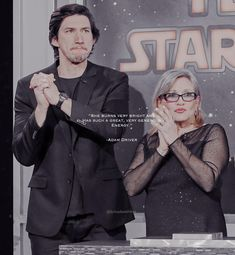 The princess and her little prince. #adamdriver #carriefisher #savebensolo