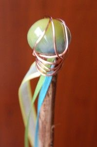 Another cute fairy wand, from sticks, ribbon, a stone and wire