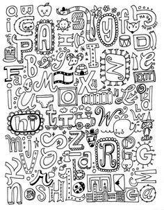 Doodles Amp Letters Marieke Blokland Tekenen Tekeningetjes