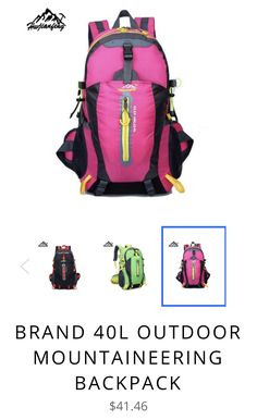 Brand 40L Outdoor Mountaineering Backpack ed1044d025364