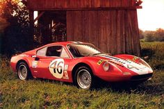24 Horas de Le Mans (1972) Not your typical Ferrari parking place...