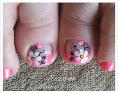 Resultado de imagen para uñas de pies Cute Pedicure Designs, Toe Nail Designs, Pedicure Nail Art, Toe Nail Art, Summer Toe Designs, Painted Toe Nails, Cute Toe Nails, Feet Nails, Girls Nails