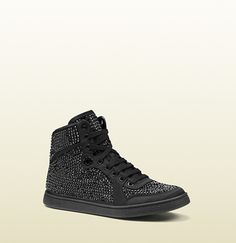 Gucci Coda Satin Effect Fabric High-Top Sneaker on shopstyle.com