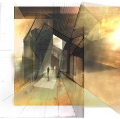drawingarchitecture: 'Light and Materiality' David Zawko. 2011. Mixed Media. This image is almost directly taken from a drawing in a seco...