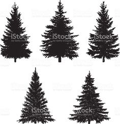 Forest clipart pine tree outline - pin to your gallery. Explore what was found for the forest clipart pine tree outline Tree Silhouette Tattoo, Pine Tree Silhouette, Silhouette Images, Silhouette Vector, Silhouette Painting, Free Vector Graphics, Free Vector Art, Pino Tattoo, Kiefer Silhouette