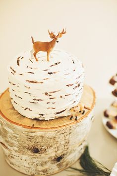 Everyone is pinning my cake from J's birthday.  Faux birch frosting.  Simple