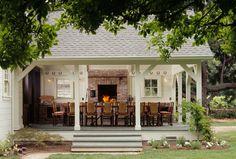 the Polished Pebble: Modern Farmhouse Architecture - beautiful dining / entertaining area