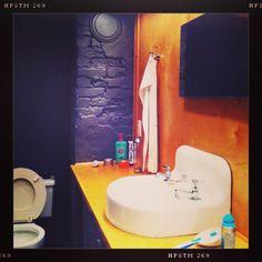 Bathroom vanity out of lockers