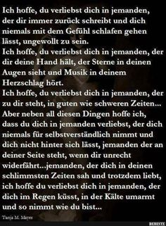 Love Me Quotes, Faith Quotes, Sad Quotes, Y Words, True Words, Birthday Wishes Messages, German Quotes, Sweet Texts, German Words