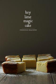 Key Lime Pie Magic Cake Recipe via @foodnessg