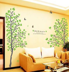 Large Size Couple Tree Wall Decals / Vinyl Wall by looksbetter, $69.00