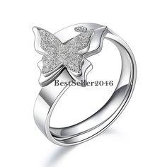 Exklusiver Schmetterling Butterfly Ring Schmetterlingsring Edelstahl Schmuck