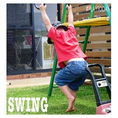 #PLAYTODAY @Childhood101  Swing. Develop balance, strength, co-ordination and the vestibular system of the inner ear.