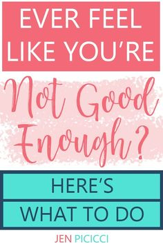 I spent a lot of my life feeling unworthy and not good enough. Here's how I changed that (and you can, too! Negative Self Talk, Negative Thoughts, Motivational Blogs, Inspirational Quotes, Positive Mindset, Positive Quotes, Fury Quotes, Inner Peace Quotes, How To Be A Happy Person