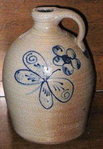 butterfly & flower  stoneware*