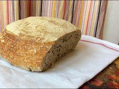 Kváskový chleba kynutý přes noc v lednici - YouTube Bread, Make It Yourself, Youtube, Basket, Diets, Breads, Buns, Youtubers, Sandwich Loaf